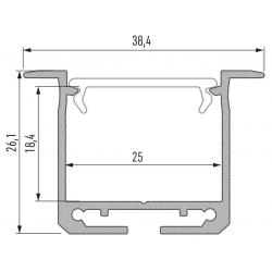 Profil aluminiowy typ INDILEDA