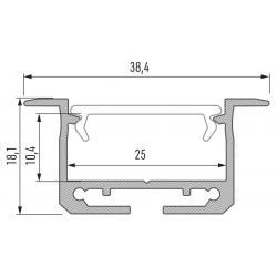 Profil aluminiowy typ INSILEDA
