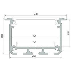 Profil aluminiowy typ INSO
