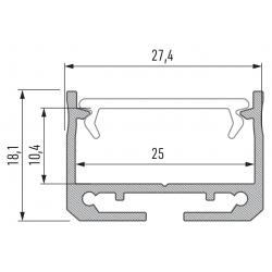 Profil aluminiowy typ SILEDA