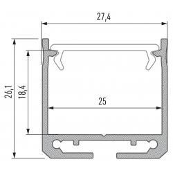 Profil aluminiowy typ DILEDA
