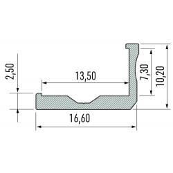 Profil aluminiowy typ F